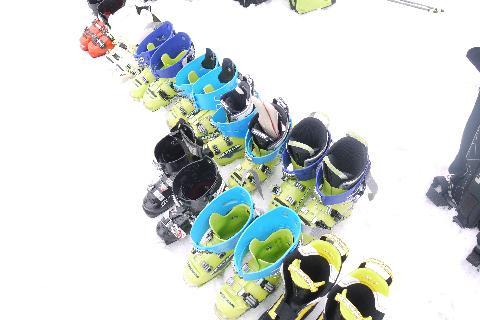 スキーブーツテスト