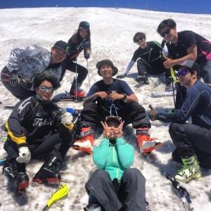 夏でもスキー!