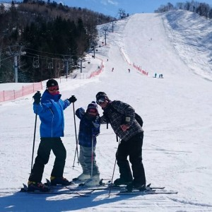 スキー日和!