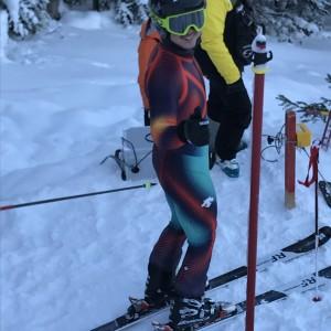 阿寒湖スキー場の修行終了