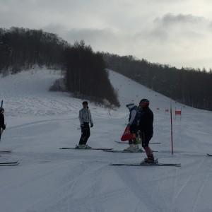 阿寒湖スキー場で修行中