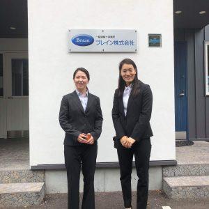 安藤麻&岡本乃絵選手来社
